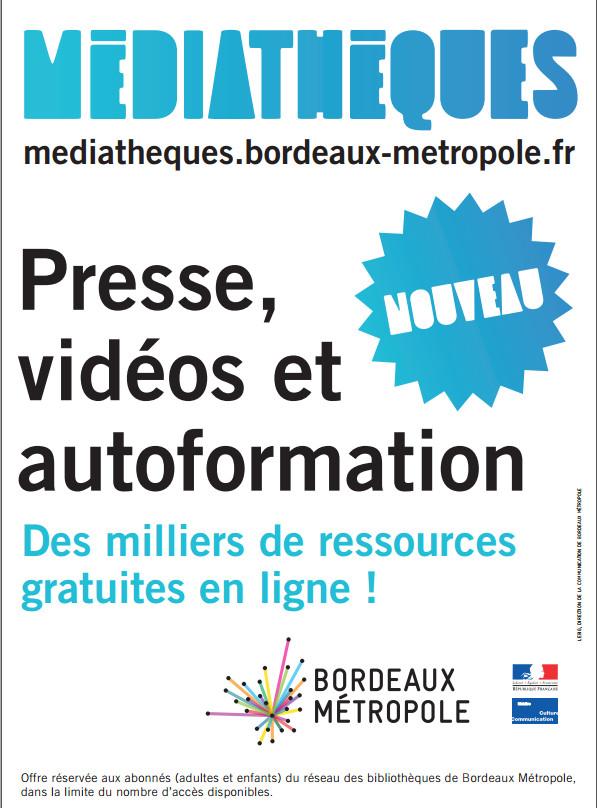 Affiche portail bibliothèques Bordeaux Metropole