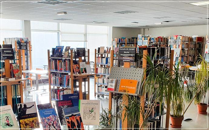 CRM - Centre de ressources Montaigne IUT/IJBA - vue intérieure, nouveautés et documents