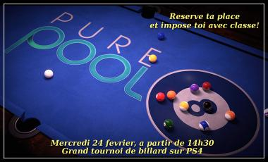 Tournoi Billard Pure Pool sur PS4