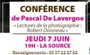 CONFÉRENCE DE PASCAL DE LAVERGNE: «Lectures de la photographie: Robert Doisneau»