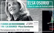 Rencontre littéraire avec Elsa OSORIO au sujet de son roman « Double fond » aux Editions Métailié