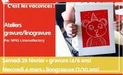 Linogravures pour les 7/10 ans