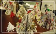 Pliage de sapins décoratifs