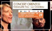 CONCERT ORIENT(S)- Carnet de voyage musical Dès 7 ans Par Emmanuelle TROY et Luc GIRARDEAU / Ar'Khan