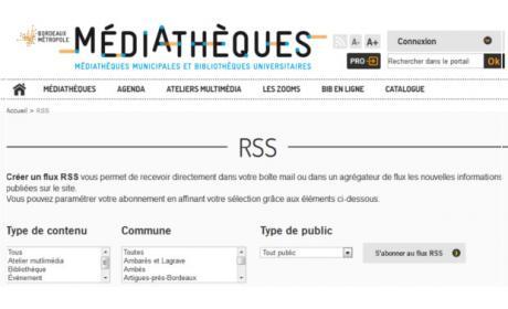 nouveau site portail mediatheques bordeaux metropole